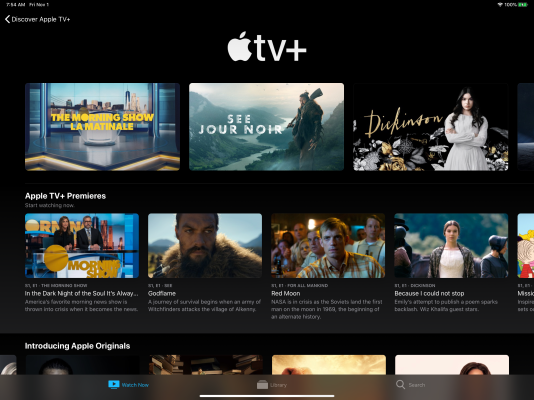 Apple TV+ now live, with one year free for new iOS, Apple TV and Mac purchases