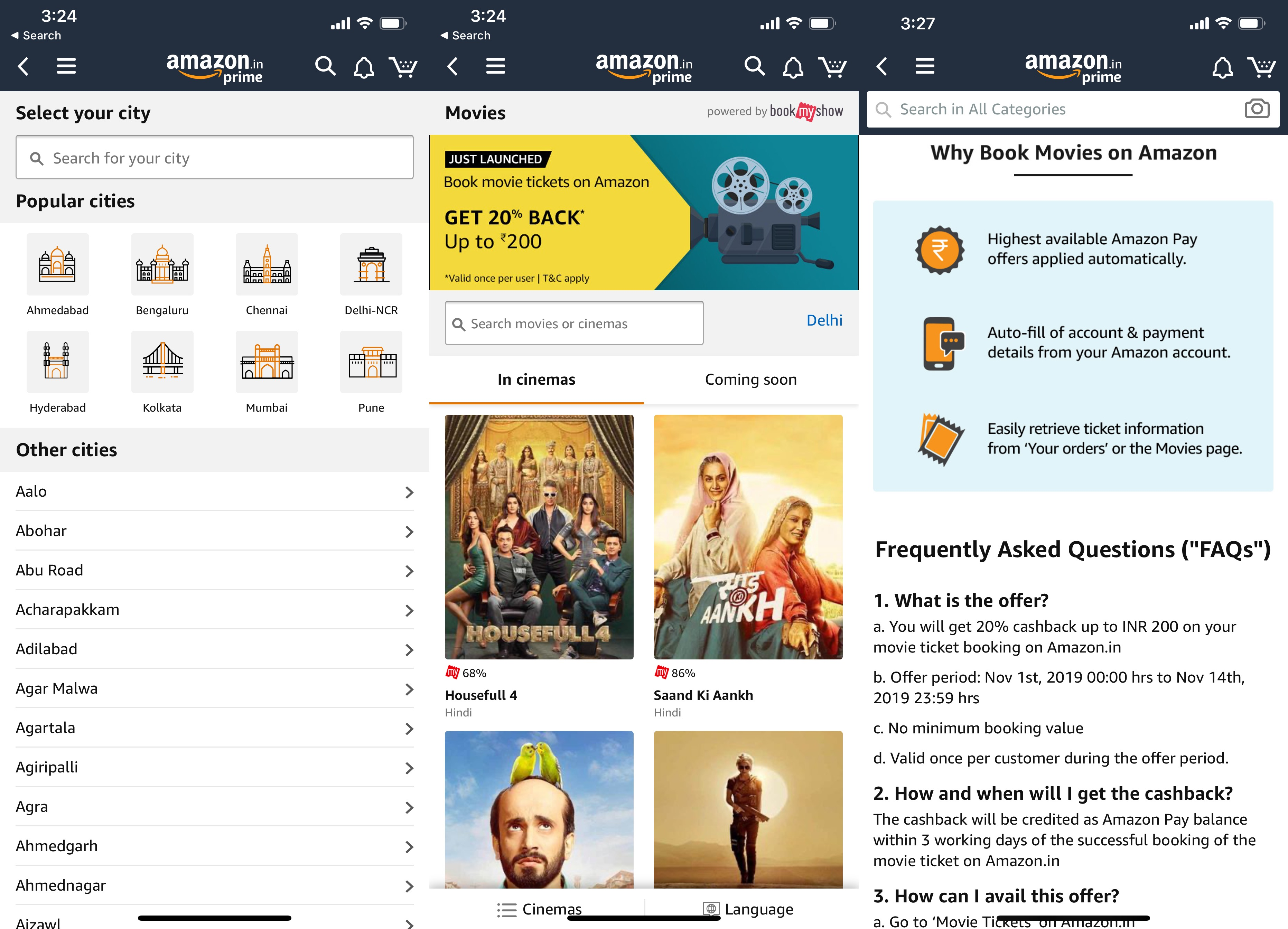 Amazon Now Sells Movie Tickets In India Techcrunch