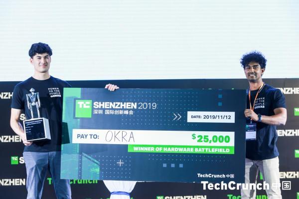 And the winner of Hardware Battlefield at TechCrunch Shenzhen 2019 is Okra