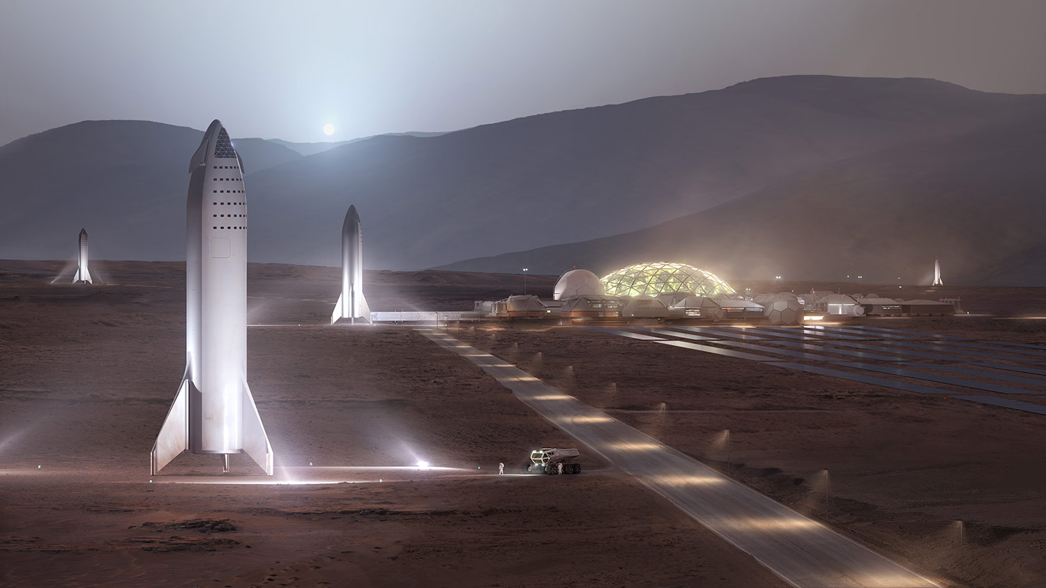 1,000 Starships, 20 Years Are Needed to Build Sustainable City on Mars