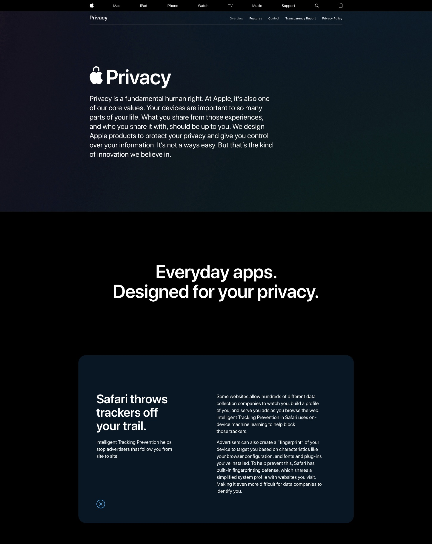Apple refreshes its privacy site with new technical whitepapers