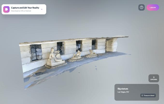 Ubiquity6's Display.land fait partie du scanner 3D et du réseau social vegas