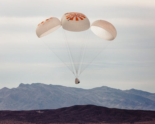 SpaceX achieves key safety milestone for crewed flight with 10th parachute test