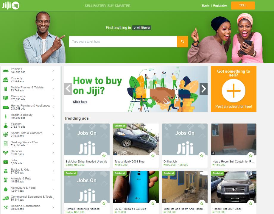 eCommerce sites in Nigeria -Jiji.ng