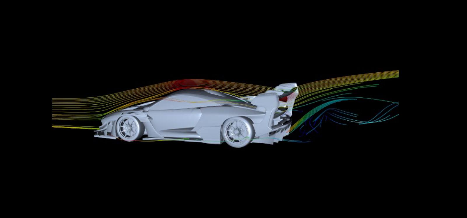 Senna GTR CFD1 côté aérodynamique