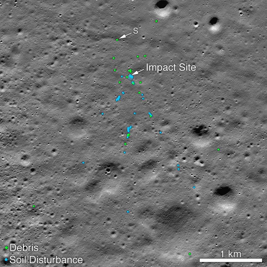 The remains of India's first lunar lander have been found on the Moon