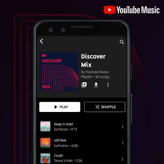 YouTube Music introduces three new personalized playlists