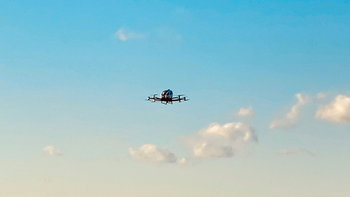 Air taxi company EHang flies autonomously in the U.S. for the first time