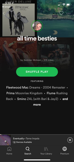 Spotify's new test lets influencers post Stories to introduce their own playlists