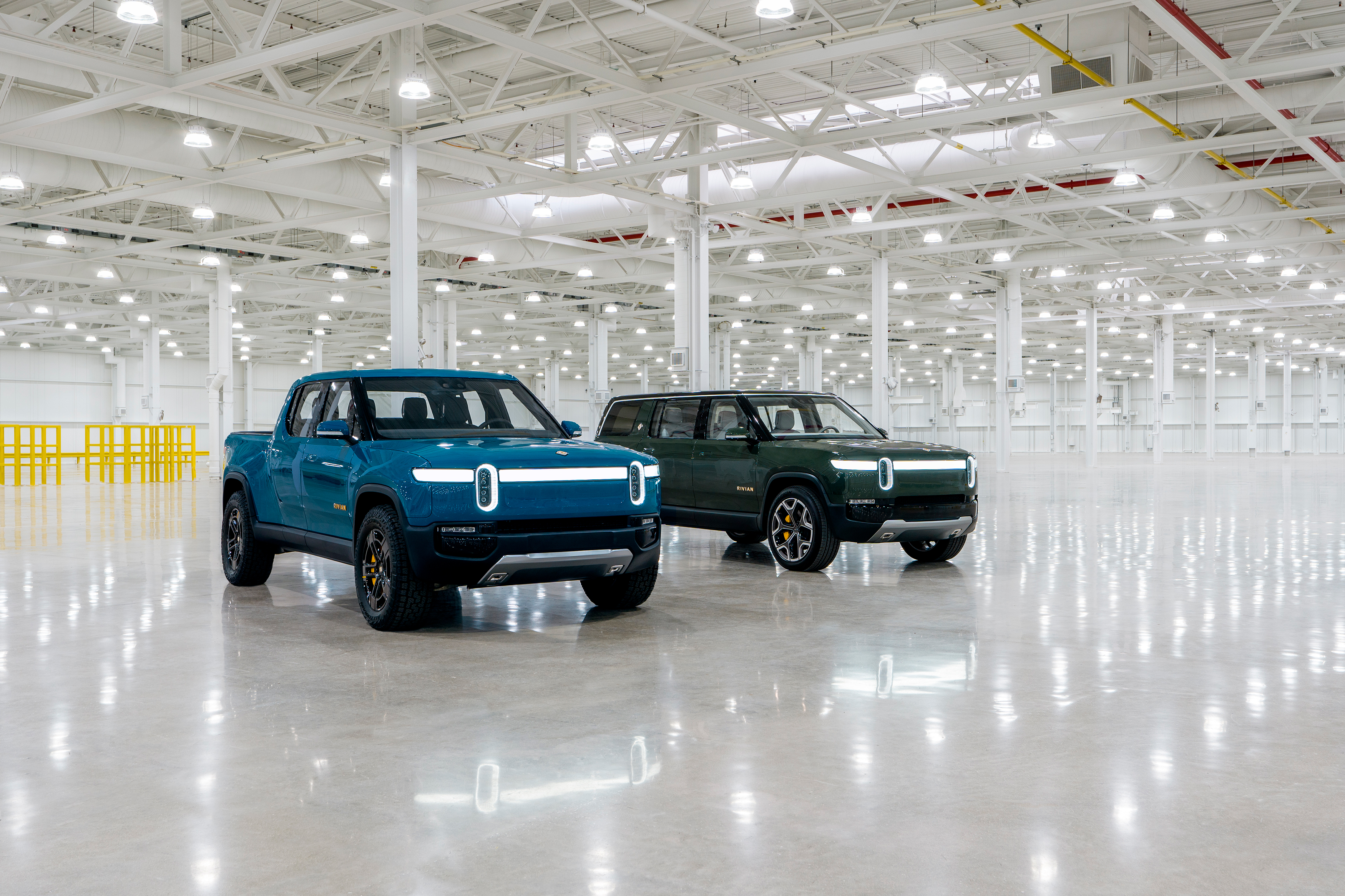 Rivian electric vehicles