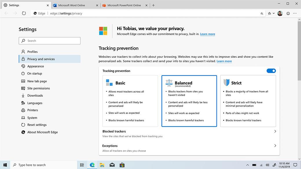 Aquí está la primera versión estable del nuevo navegador Edge de Microsoft: TechCrunch 2