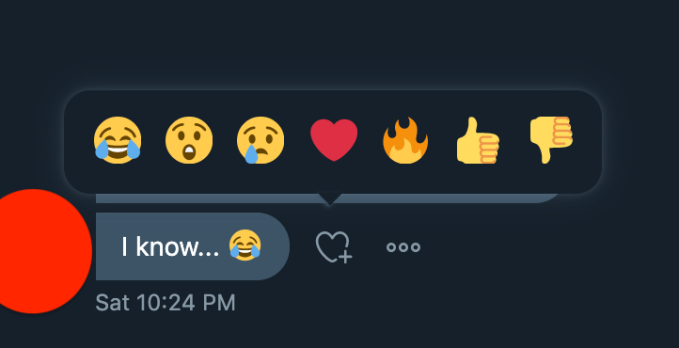 Twitter DMs now have emoji reactions