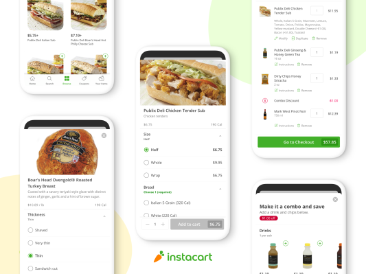 Instacart gets into ready-to-eat food deliveries with build your own sub service - techcrunch