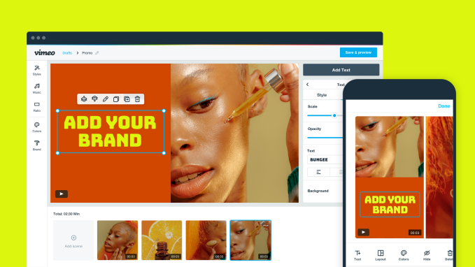 Vimeo's new app helps small businesses create professional social videos