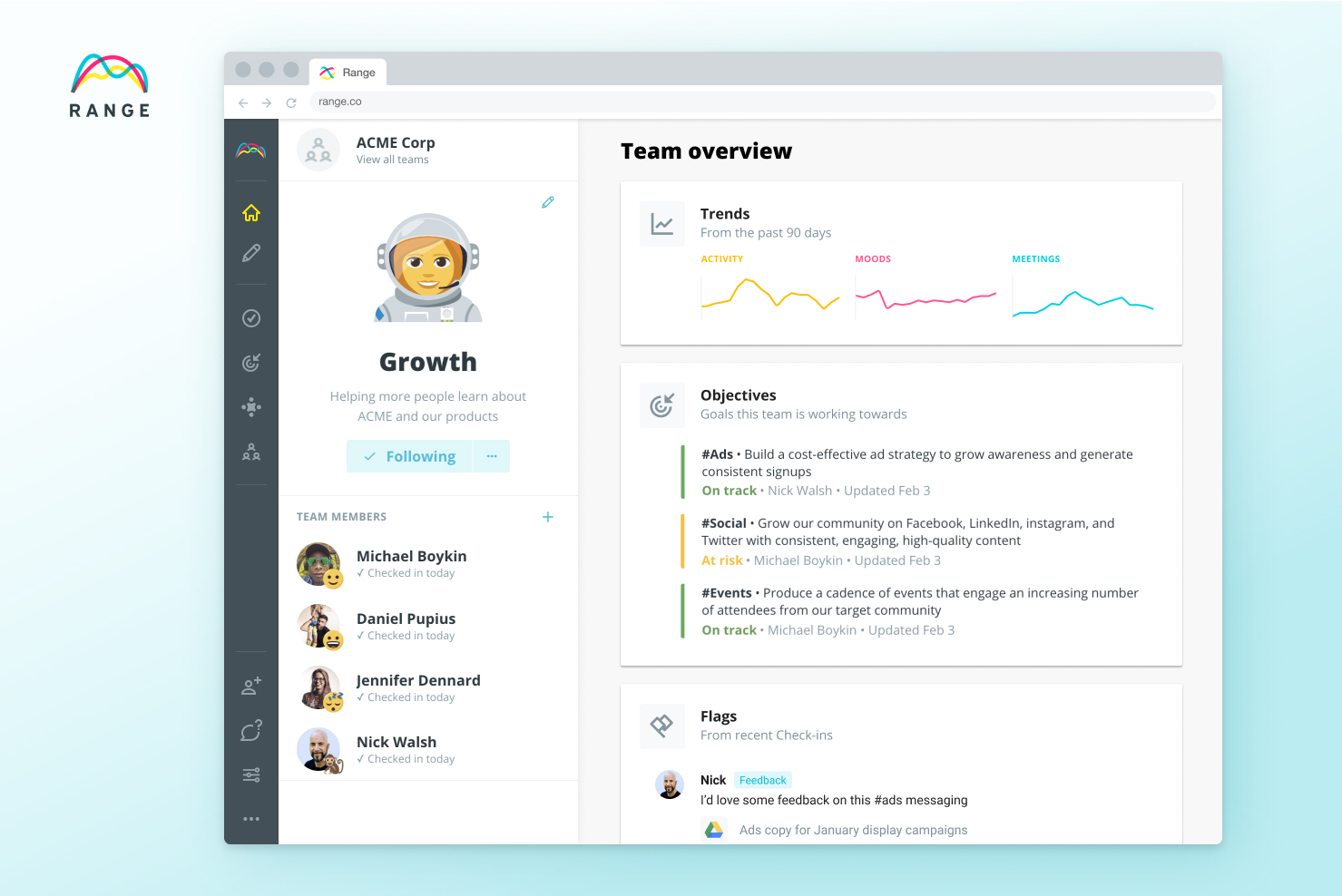 General Catalyst leads $6 million investment in team productivity startup Range 2