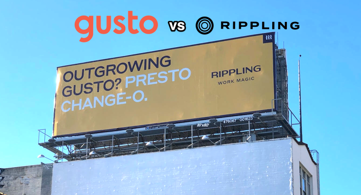 Rippling starts billboard battle with Gusto - techcrunch
