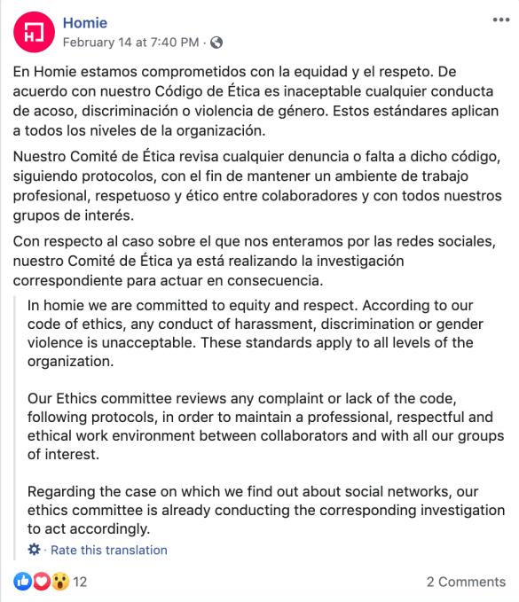 El CEO de Homie renuncia después de las acusaciones de acoso sexual por parte del solicitante de empleo - TechCrunch 3