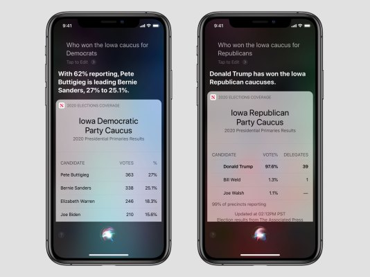 Siri will now answer your election questions thumbnail