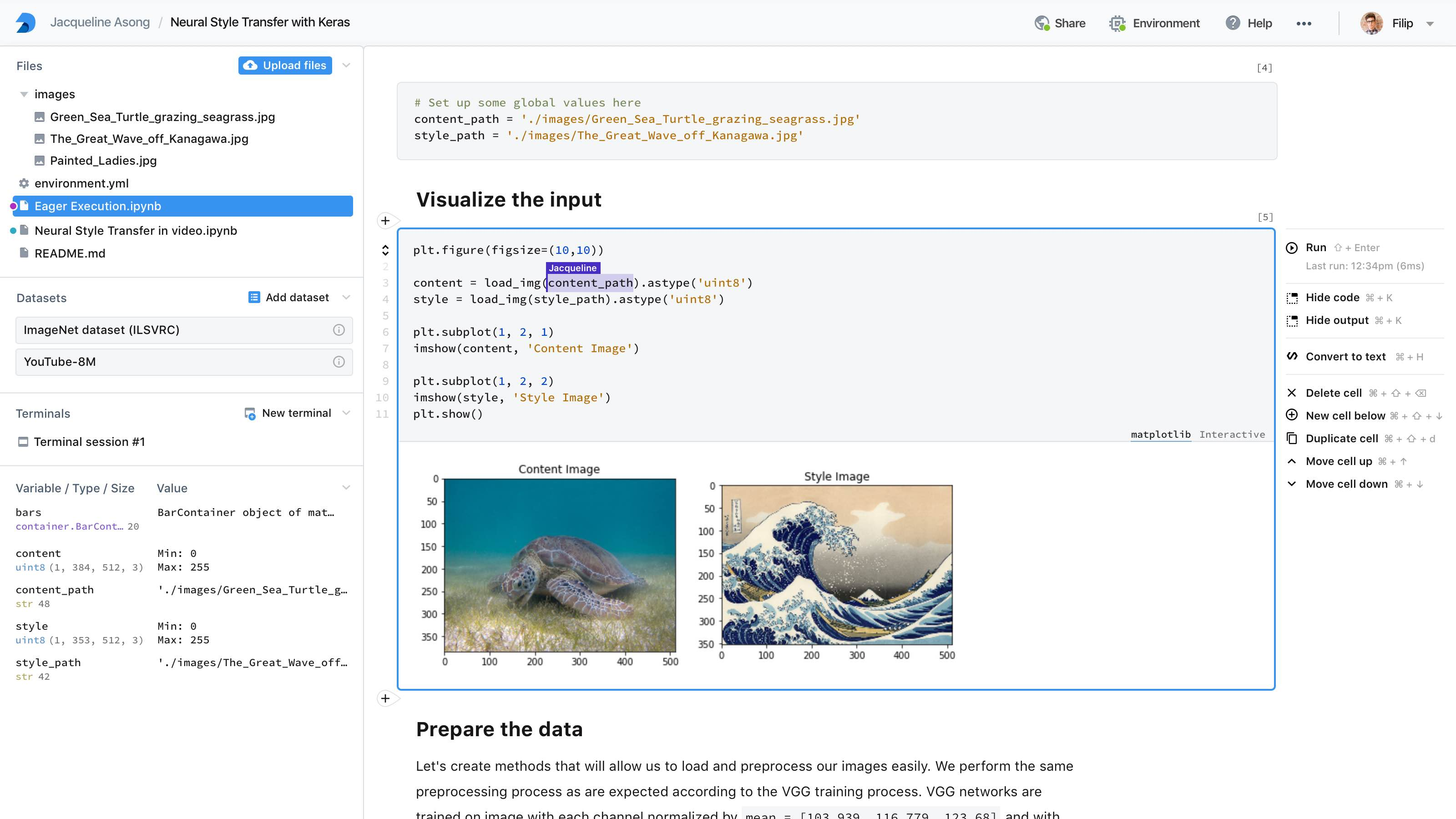 DeepNote's Jupyter-like data science environment