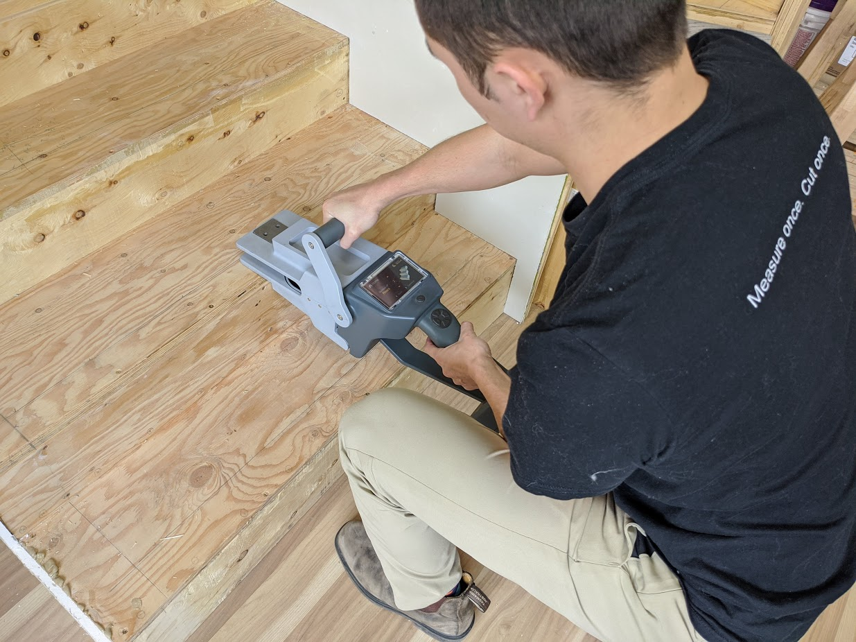 ShapeMeasure's smart tool and robotic cutter let contractors measure once and cut never