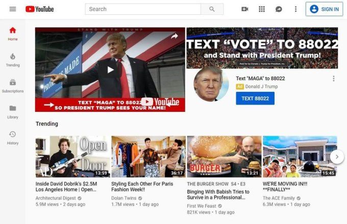 youtube2 custom fcfe6b1a1eb3341a67f52ec481258df6e8708968 s800 c85 - Trump's Election Day YouTube takeover plan feels very different in 2020