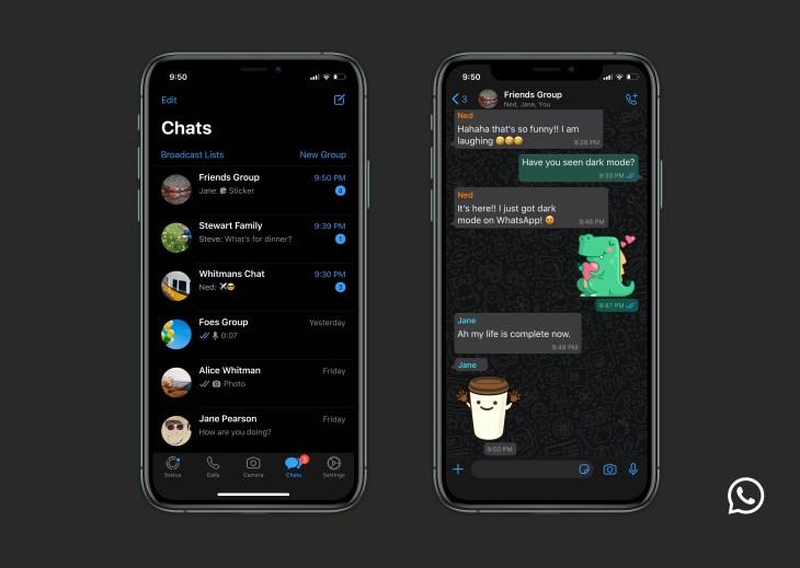 WhatsApp Dark Mode iPhone