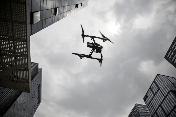 DJI Drones at SZ DJI Technology Co. Headquarters As Company Said To Be Willing to Share Drones' Data With Chinese Government
