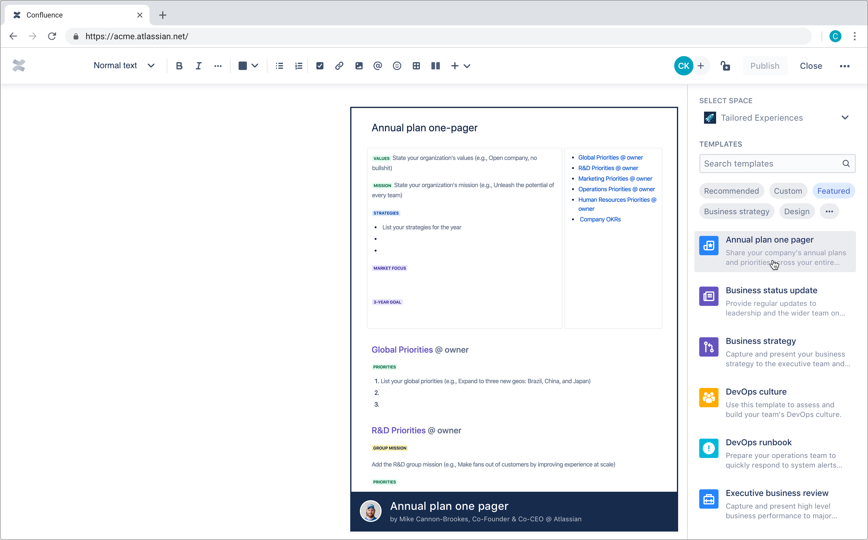 Atlassian S Confluence Gets A New Template Gallery Techcrunch