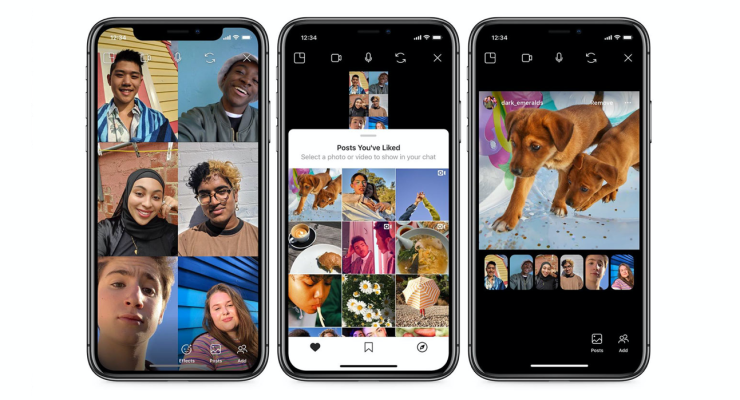 Instagram launches Co-Staring at of posts at some level of video chat thumbnail