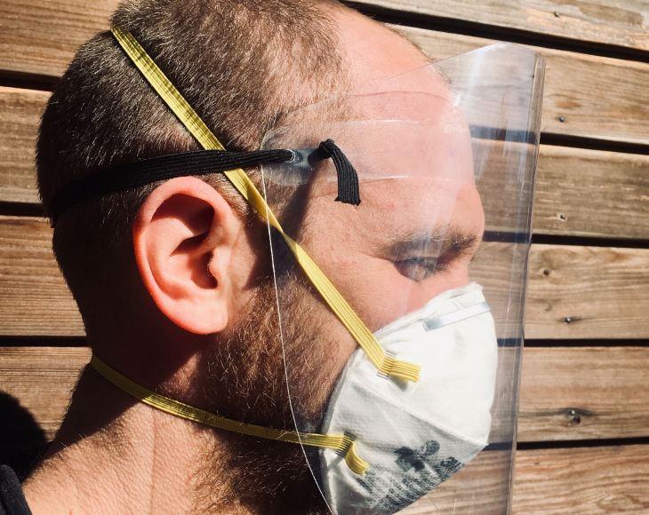 PPE face guard designed by NYU Tandon Future Labs