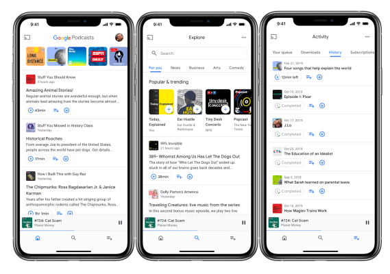 Google Podcasts is finally available on iOS