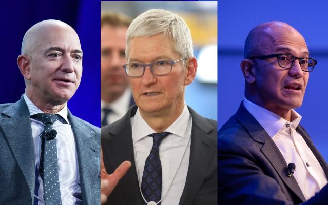 Amazon, Apple and Microsoft CEOs detail their companies' efforts to wrestle coronavirus pandemic thumbnail