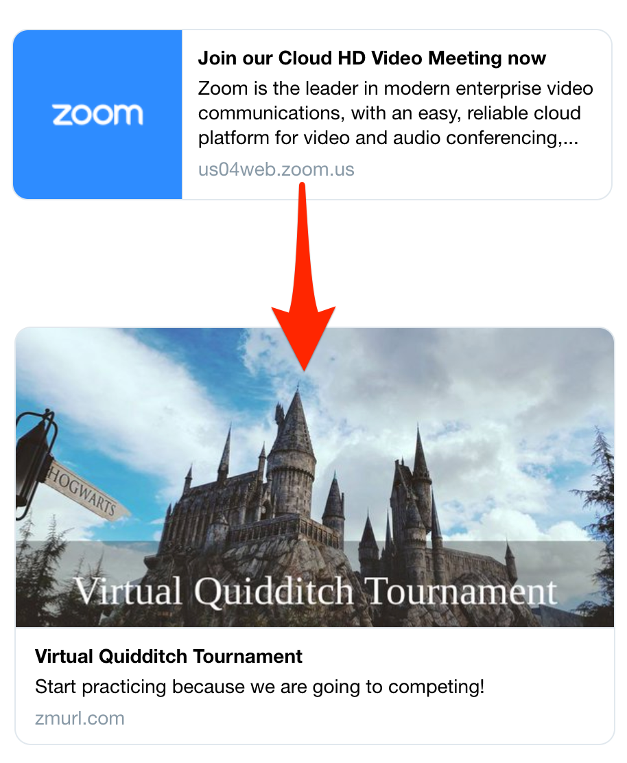 Zmurl Customizes Zoom Link Previews With Images Event Sites Internet Technology News