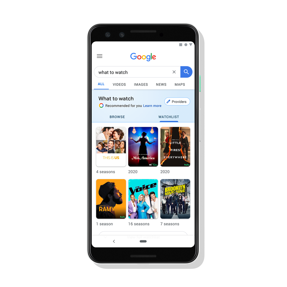You can now create your own movie watchlist in Google Search