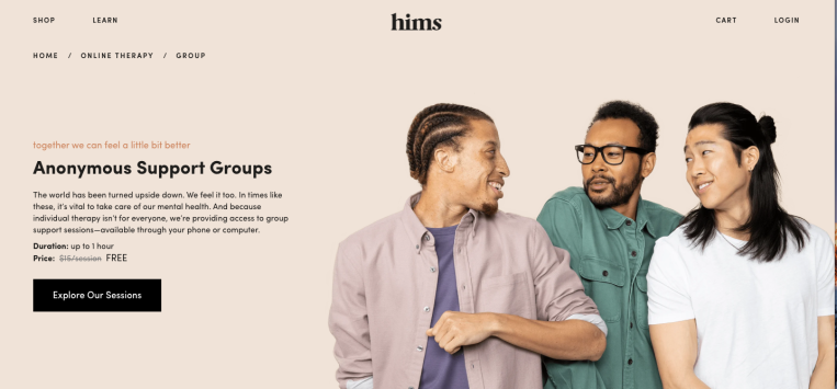Hims launches group therapy services as first foray into broader mental health initiative