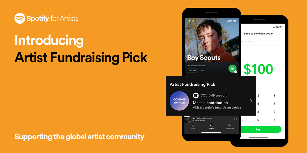 Spotify Debuts Artist Fundraising Pick Feature