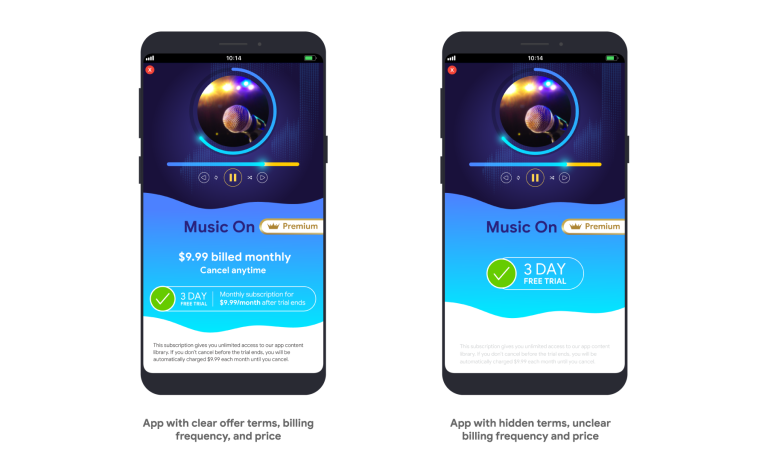 Google Play: Termos claros e mais fáceis de ler, frequência de pagamento e preço serão obrigatórios