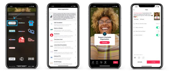 TikTok launches Donation Stickers, allowing creators to fundraise for coronavirus relief efforts 1