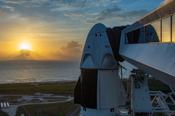 Watch SpaceX launch people to space for the first time live thumbnail