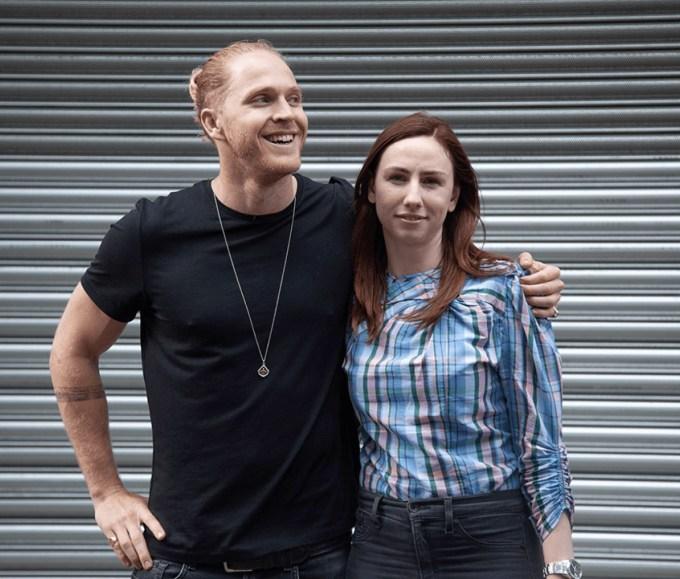 Burst founders Hamish Khayat and Brittany Stewart