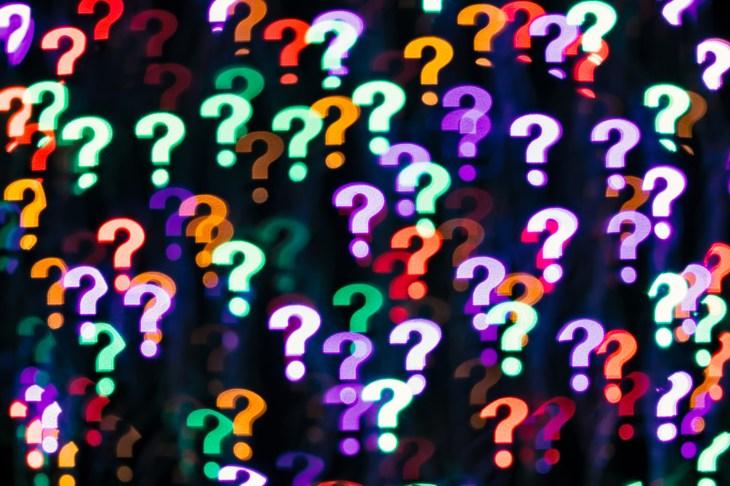 Question Mark Shape Bokeh Backdrop