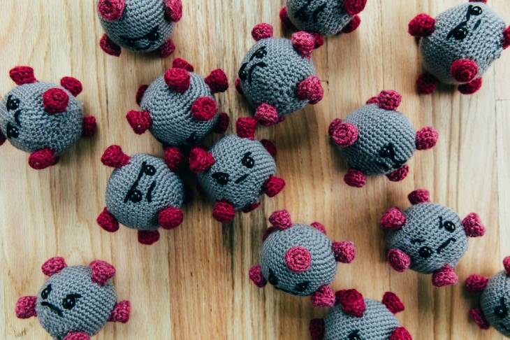 Stuffed Toy Coronaviruses