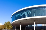 Barcelona, Spain - October 13, 2014: View of the exhibition center. News & Training at VMworld exhibition of VMWARE in Barcelona, Spain.