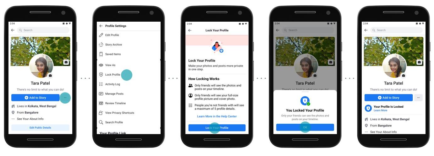 Facebook presenta una función para ayudar a las mujeres en India a bloquear fácilmente sus cuentas 2
