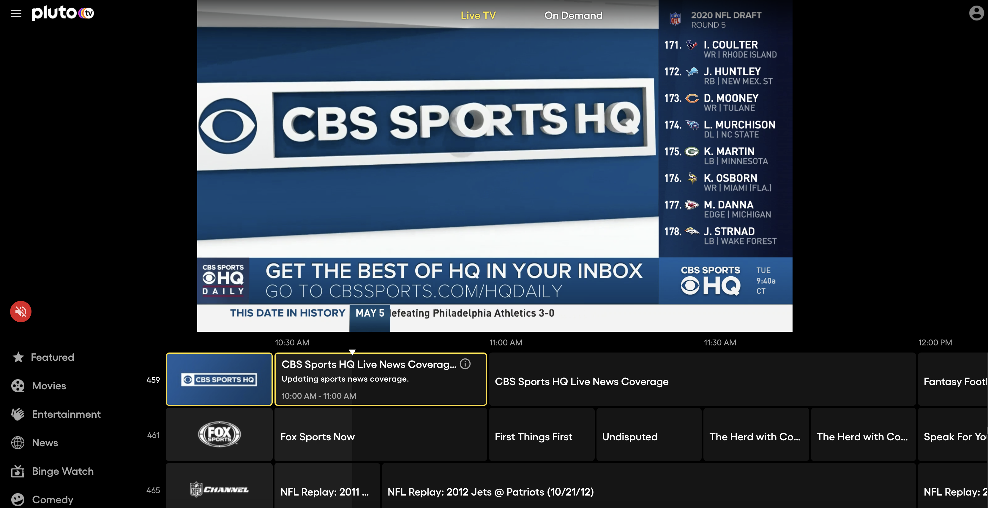 Pluto Tv Expands With Addition Of Cbs Sports Hq New Deals With Tivo And Verizon Techcrunch