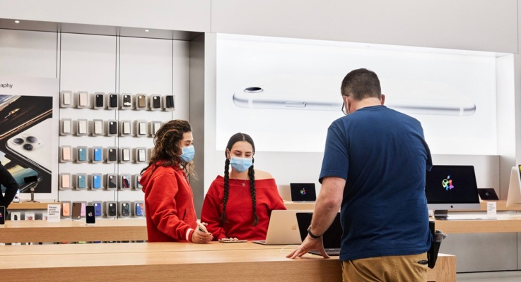 Apple begins reopening some stores with temperature checks and other safeguards in place thumbnail