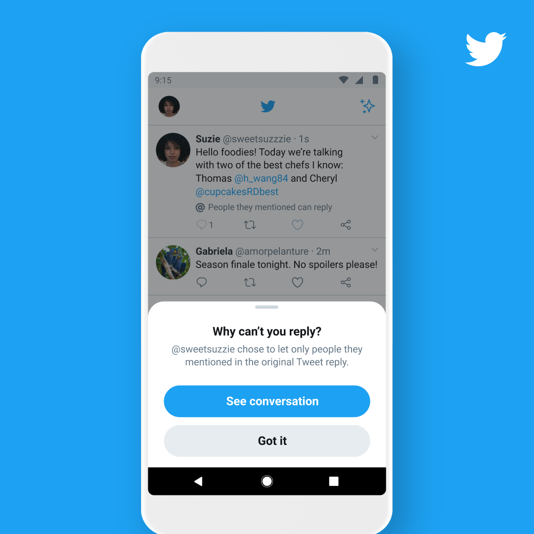Twitter Is Testing A Feature That Limits Who Can Reply To Your Tweets Internet Technology News