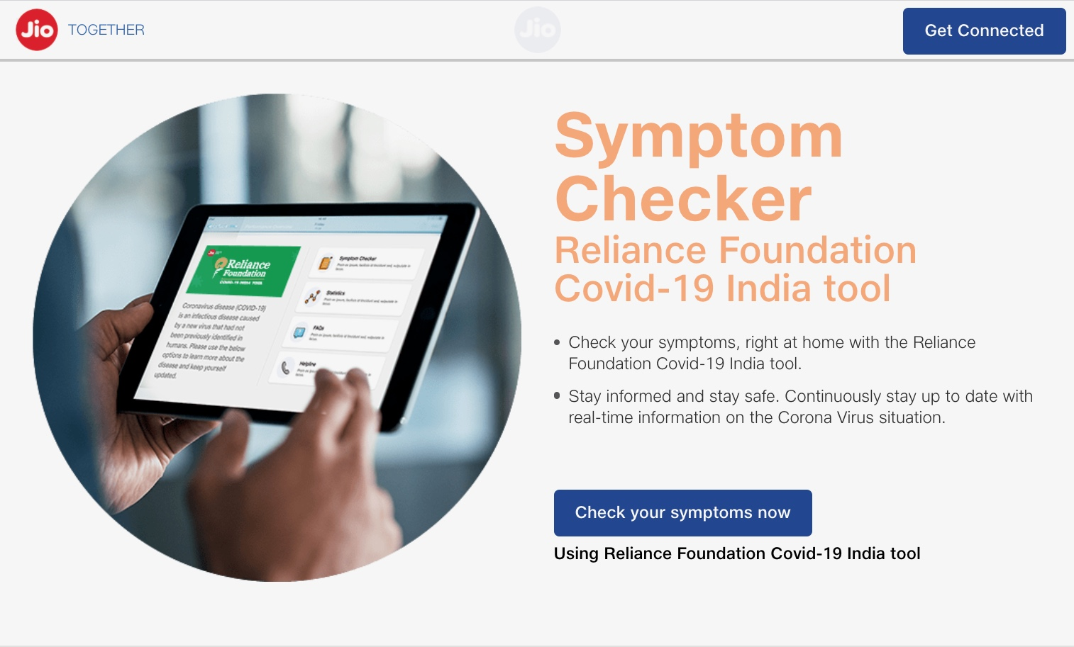 Security Lapse At India S Jio Exposed Coronavirus Symptom Checker Results Techcrunch