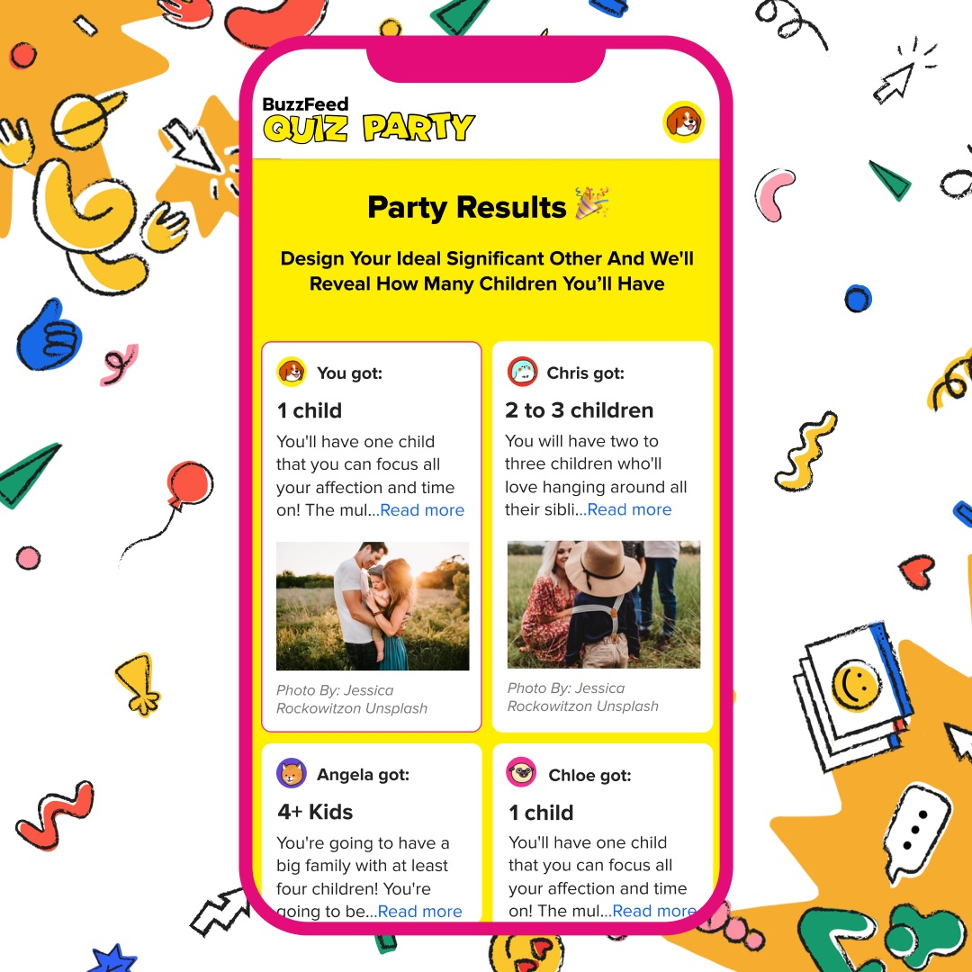 With Buzzfeed S New Feature You Can Take A Quiz Party With Friends Techcrunch Kids can use it to practice on their. quiz party with friends