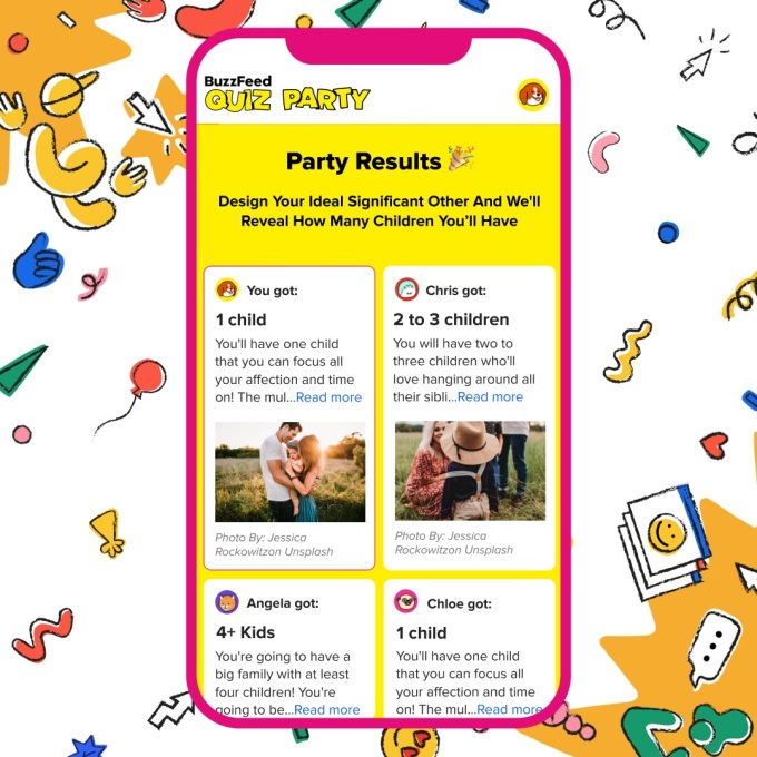 With Buzzfeed S New Feature You Can Take A Quiz Party With Friends Techcrunch Really, your geographic bias goes that deep. quiz party with friends
